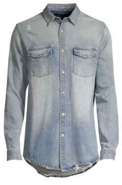 Ksubi Frontier Distressed Denim Shirt