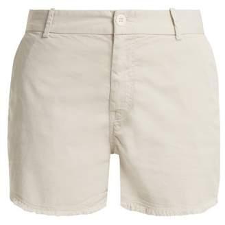 Nili Lotan Carpenter frayed cotton-blend shorts