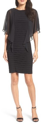 Women's Adrianna Papell Chiffon Sleeve Banded Sheath Dress $160 thestylecure.com