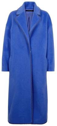 Mother of Pearl Laurel Blue Wool Blend Coat