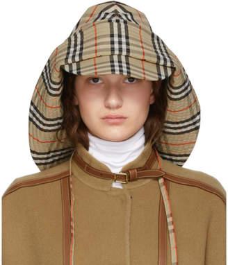 Burberry Beige Vintage Check Rain Hat