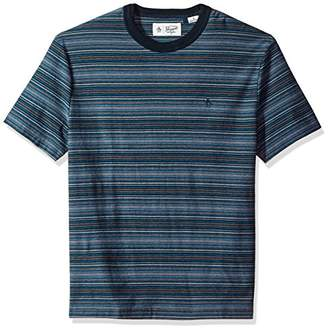 Original Penguin Men's Relaxed Fit Short Sleeve Striped Tee