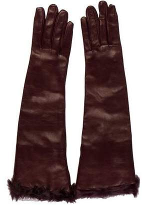 Dolce & Gabbana Leather Long Gloves w/ Tags