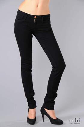 Earnest Sewn Harlan.92 Skinny Leg Jeans in Jet Black