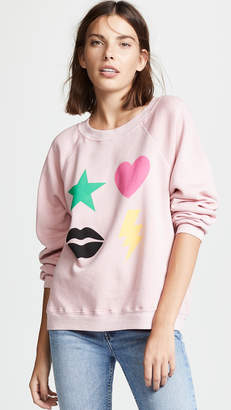 Wildfox Couture Power Icons Sommer Sweatshirt