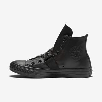 Converse Chuck Taylor All Star Punk Strap Leather High Top Womens Shoe