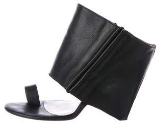 Maison Margiela Leather Wedge Sandals