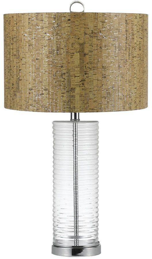 AF LightingAF Lighting Venus 27.5 in. Chrome/Clear Glass Blown Glass Table Lamp