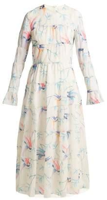 Borgo De Nor - Viola Printed Chiffon Maxi Dress - Womens - White Print