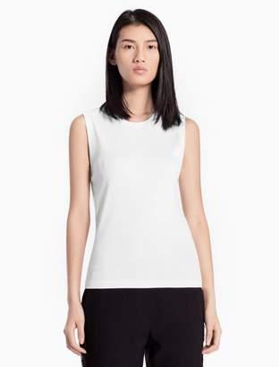 Calvin Klein ribbed cotton stretch sleeveless tank top