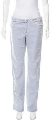 Chanel Mid-Rise Straight-Leg Jeans blue Mid-Rise Straight-Leg Jeans