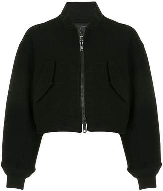 Y-3 cropped bomber jacket