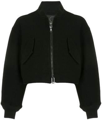 Y-3 cropped bomber jacket