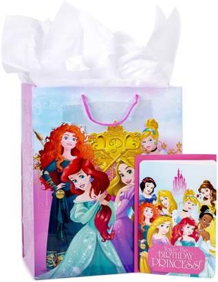 "Hallmark Disney Princess"" Large Birthday Gift Bag with Card & Tissue Paper"
