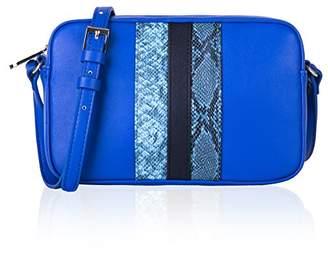 Co The Lovely Tote Women's Fashion Stripes Crossbody Bag Zipper Closure