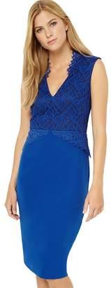 Damsel in a Dress Blue Lace Bodice Dress
