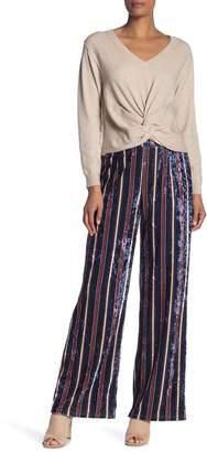 Fate Velvet Stripe Print Pants