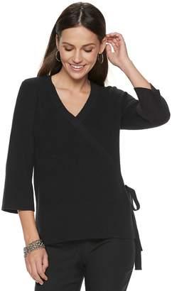 Apt. 9 Women's Faux-Wrap V-Neck Sweater