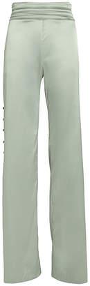 Jonathan Simkhai Night Night By High-Rise Satin Trousers