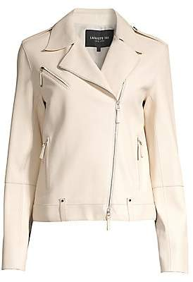 Lafayette 148 New York Women's Bernice Leather Moto Jacket