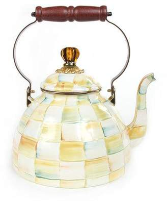 Mackenzie Childs MacKenzie-Childs Parchment Check 3-Quart Tea Kettle
