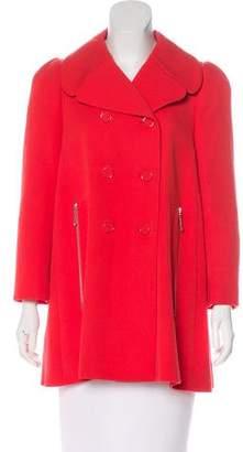 Louis Vuitton Notch-Lapel Double-Breasted Coat