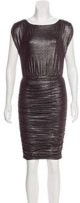 Alice + Olivia Metallic Ruched Dress