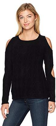 Design History Women's Double Cold Shoulder Sweater