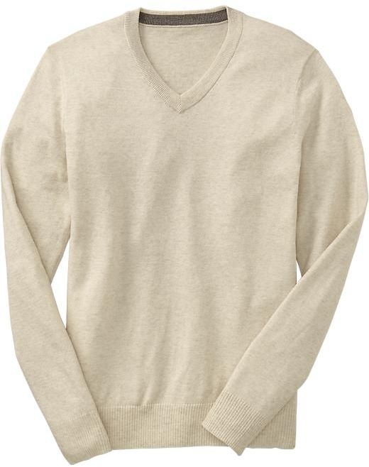 Old Navy Men's Solid V-Neck Sweaters