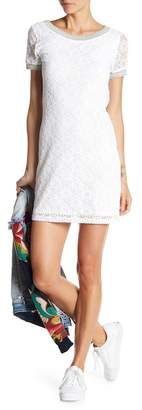 Desigual Short Sleeve Crochet Knit Dress