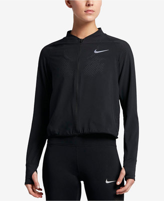 Nike Running Dri-FIT Bomber Jacket $100 thestylecure.com