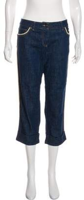Alexander McQueen Mid-Rise Cropped Jeans