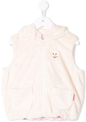 Mikihouse Miki House Bunny hooded vest