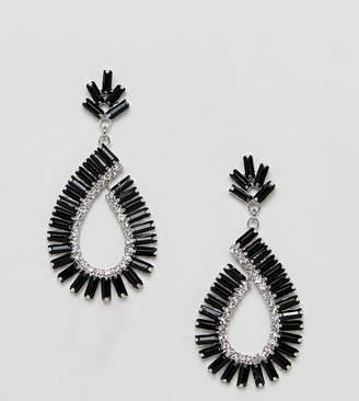 True Decadence jewelled black drop earrings (+)