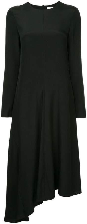 asymmetrical dress fringe back