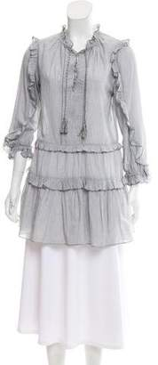 Ulla Johnson Striped Ruffled Tunic