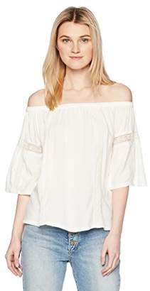 45104c312bc Silver Jeans Co. Women's Scheana Off-The-Shoulder Peasant Top