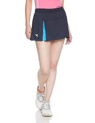 Diadora (ディアドラ) - [ディアドラ]DTG8492 Wスコート(レディース) テニススコート レディース ネイビー 日本 O (日本サイズXL相当)