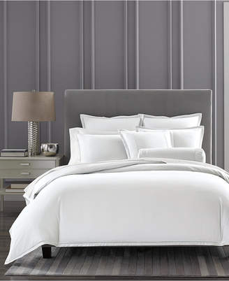Hotel Collection Closeout! Cotton Ladder Stitch Pique King Duvet Cover, Created for Macy's Bedding