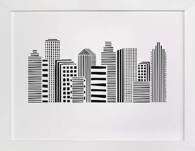 Linear Cityscape Children's Art Print