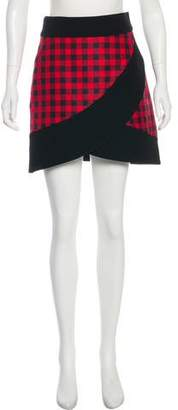 Fausto Puglisi Plaid Mini Skirt