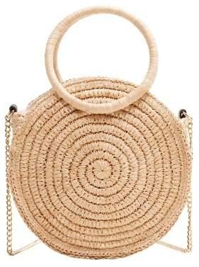 MANGO Round raffia bag