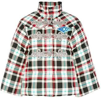 Gucci crystal-embellished puffer jacket