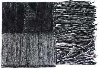 Ilaria Nistri fringed striped scarf