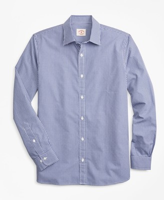 Brooks Brothers Gingham Nine-to-Nine Cotton Dobby Shirt