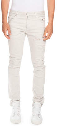 Balmain 596 Distressed Skinny Jeans