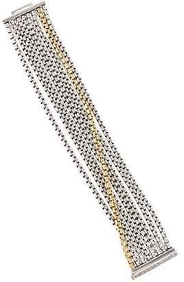 David Yurman Two-Tone Eight-Row Chain Bracelet