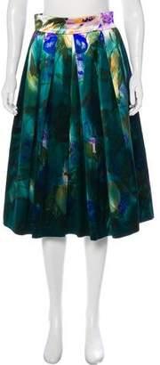 Dries Van Noten Silk-Blend Knee-Length Skirt