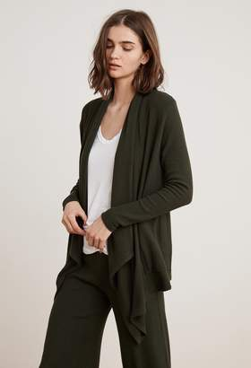 Velvet by Graham & Spencer SORAYA COZY RIB DRAPE CARDIGAN