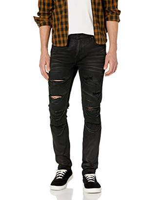 GUESS Men's Skinny Jean with Chains